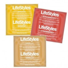 Презервативы Lifestyles Flavors vanilla, banana, strawberry
